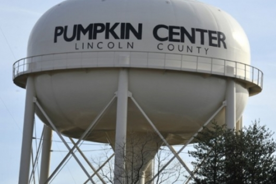 Pumpkin Center's tower in Lincoln County