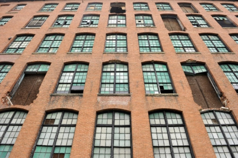Glass in windows will be replaced but maintain the historic panes. Photo: Nancy Pierce