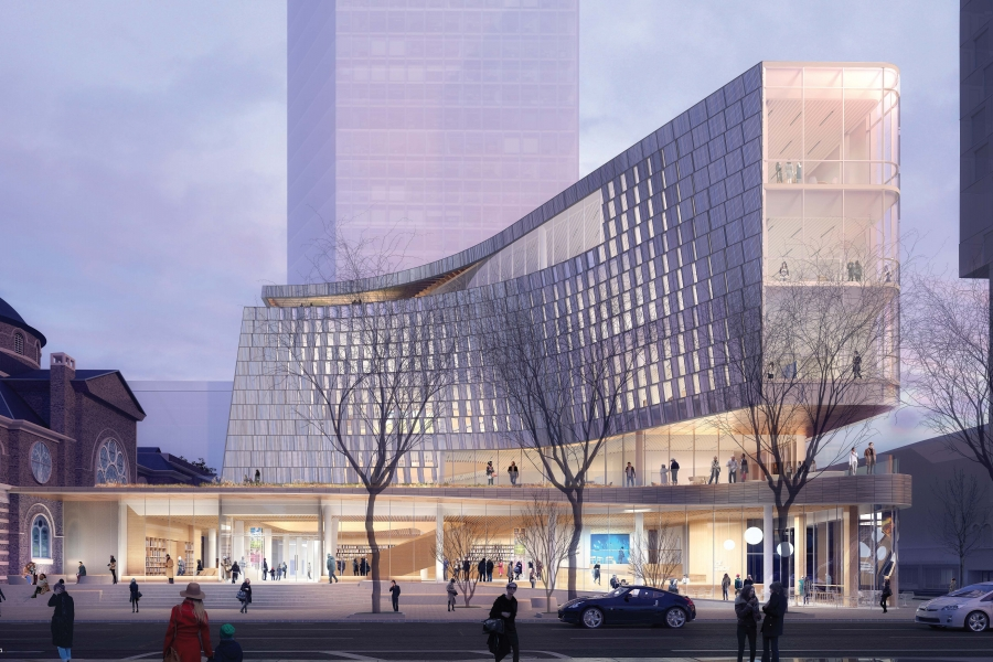 Charlotte new main library rendering