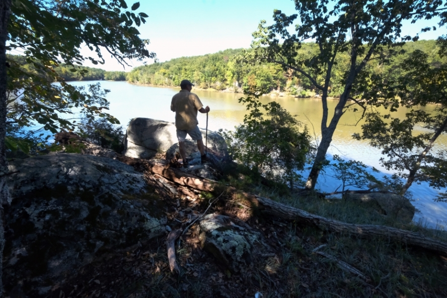 Hiking around Stumpy Pond near Great Falls, S.C. Photo: Nancy Pierce
