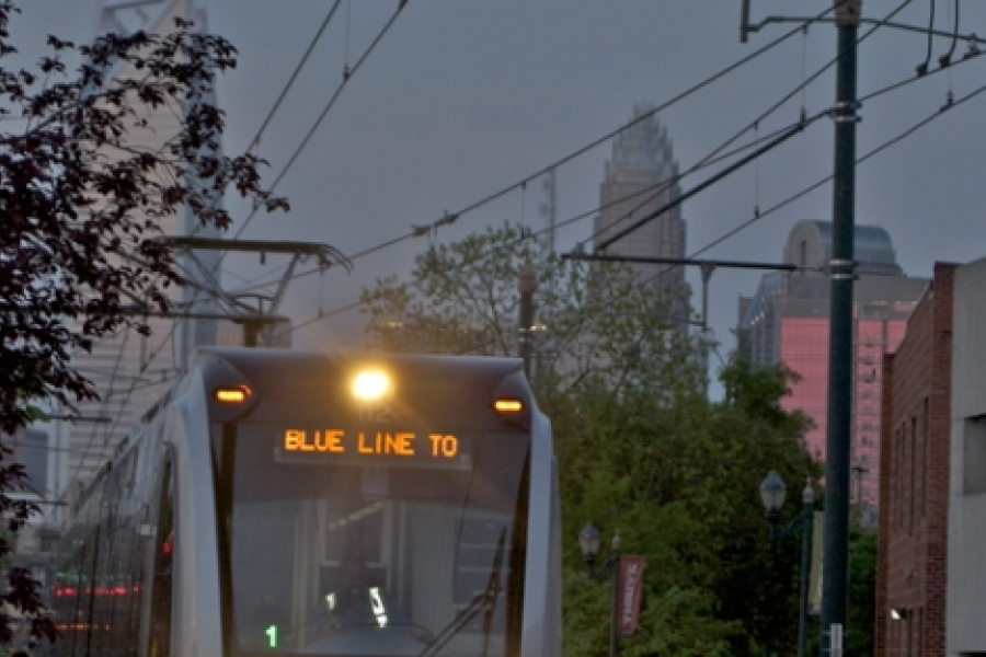 """Honorable mention, by T.L. Landsdell  Lynx Blue Line: """"The line that brings the city together and not apart."""" Photo: TL Lansdell"""