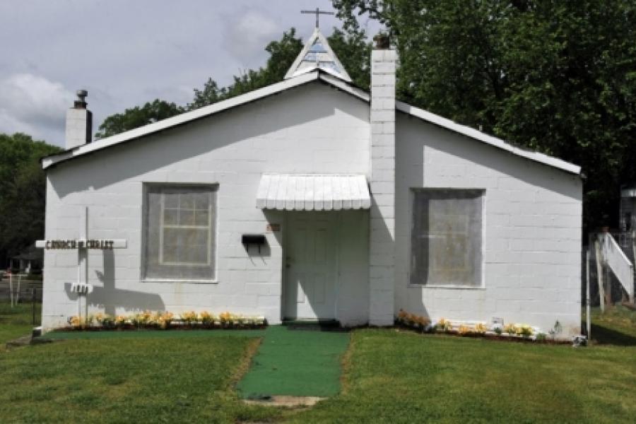 Villa Heights: House-turned church on Harrill Street in Villa Heights, a common sight in the neighborhood.