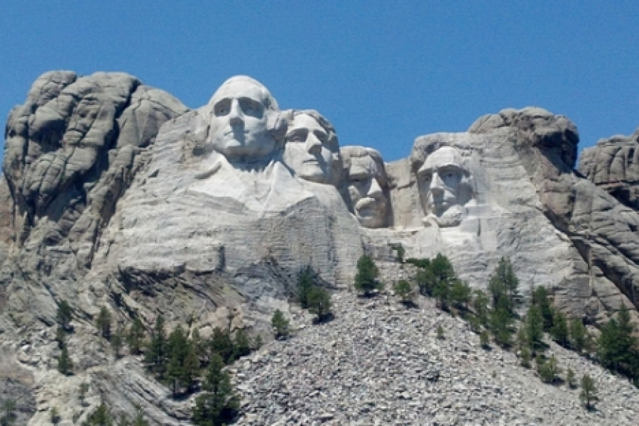 The Mount Rushmore National Memorial was built from 1927-1941 by the Danish-American father and son team of Gutzon and Lincoln Borglum. It is carved into the granite face of Mount Rushmore near Keystone, S.D., at an elevation of 5,725 feet. Photo: Melissa Currie