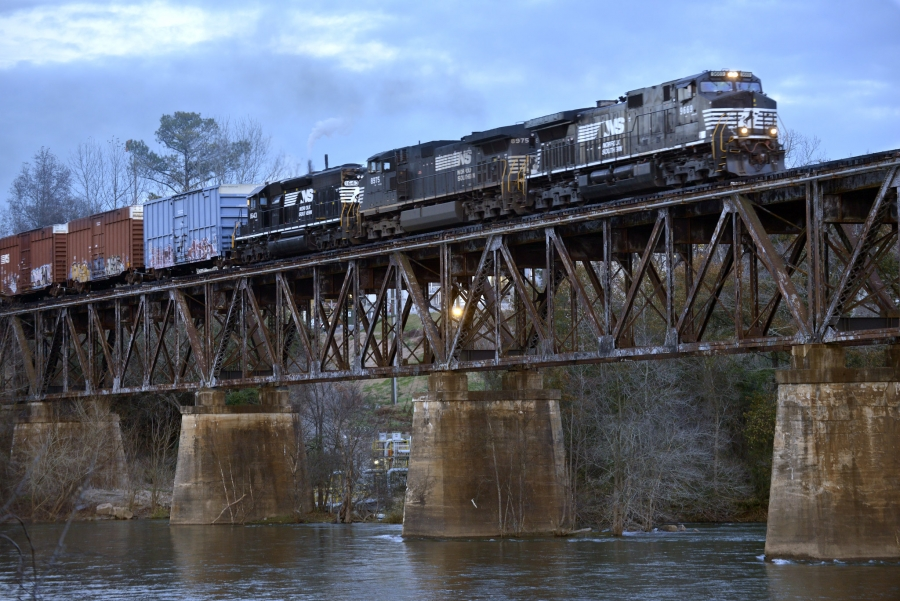 Nation Ford Crossing on the Catawba River, Norfolk Southern Trestle.