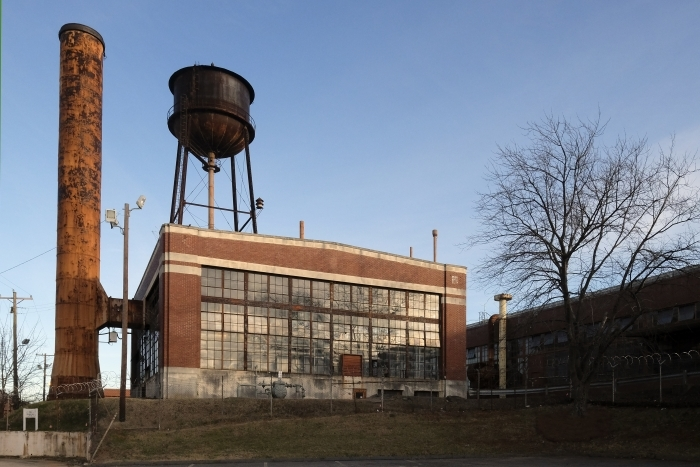 Camp North End, a former Ford factory, distribution center and missile factory north of uptown Charlotte that's being redeveloped for adapative reuse projects. Photo: Nancy Pierce.