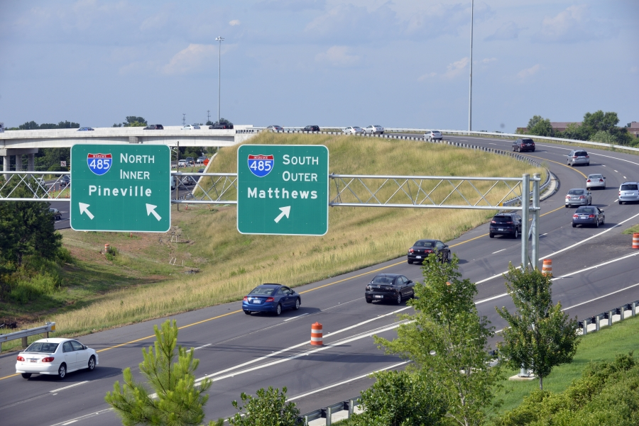 I-485 exit in Charlotte