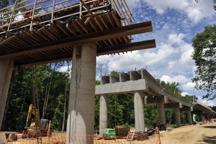 Blue Line Extension under construction