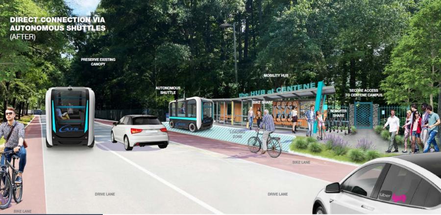 Centene's proposed autonomous vehicle hub
