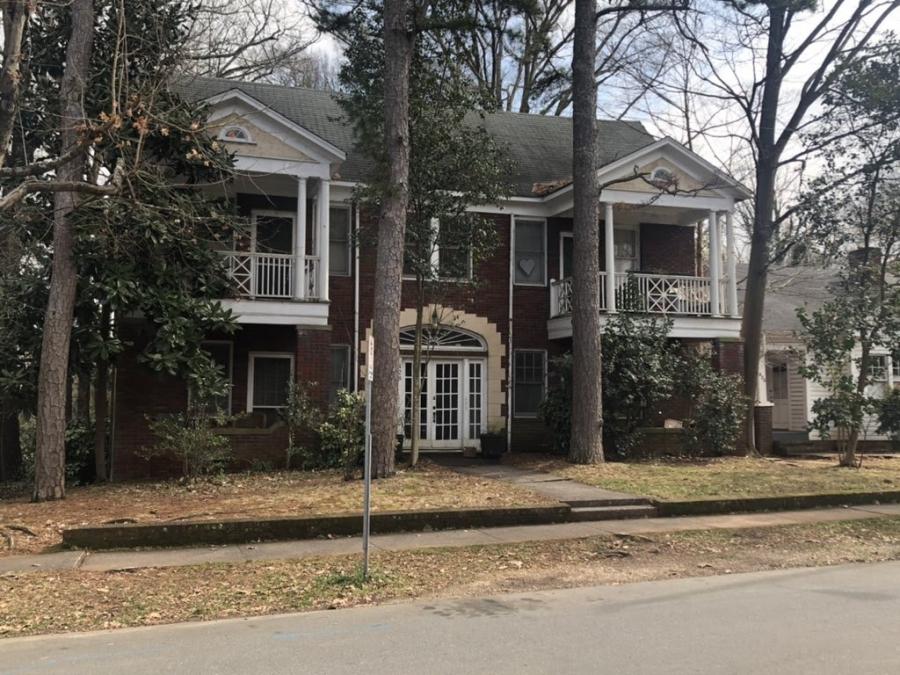 A quadplex in Elizabeth, Charlotte NC
