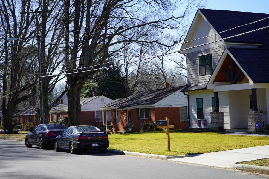 Homes in Grier Heights, Charlotte, NC.