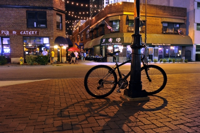 Will shops and restaurants survive this economic disruption? Will office workers still flock to downtowns? Will people bike more, shun public transportation or hop back into their cars? Conflicting predictions for the future of cities abound. Photo: UNC Charlotte Urban Institute archives.