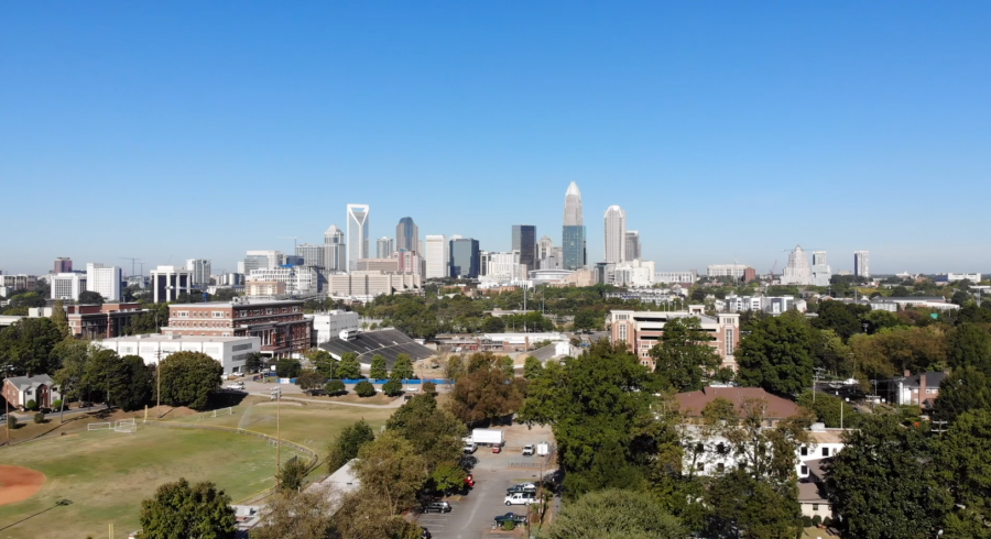 Uptown Charlotte from the east