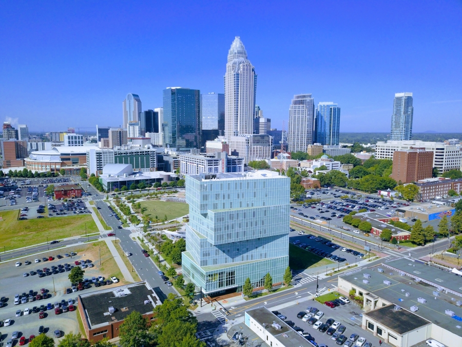 Picture of uptown Charlotte.
