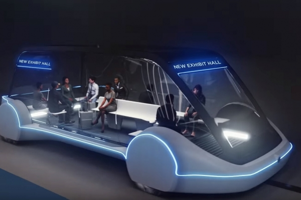 Artist rendering of autonomous vehicle