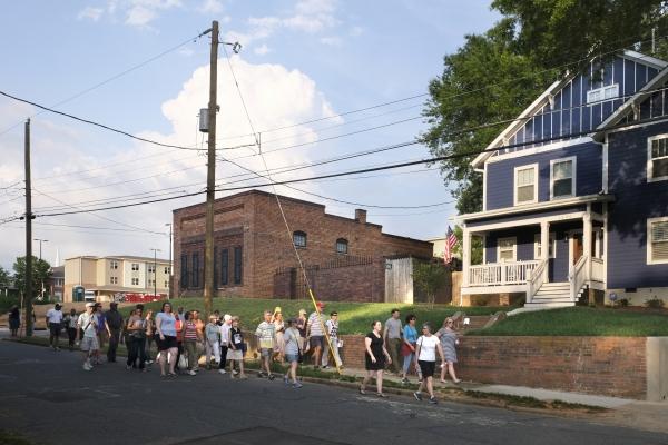 A City Walk Charlotte in the Belmont neighborhood