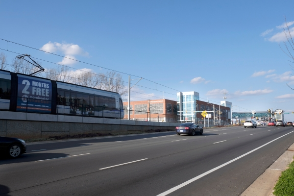 The Blue Line Extension in University City, Charlotte