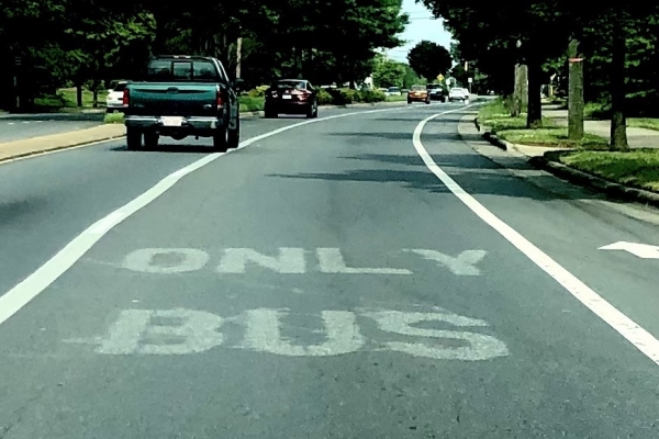 Bus only lane in Charlotte, NC