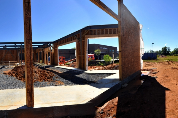 A construction site in the Charlotte suburbs