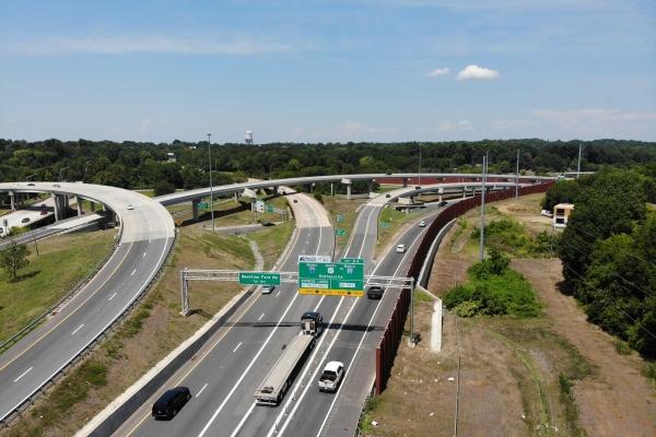An interchange near uptown Charlotte, NC