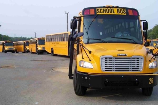 More than 13,000 public school buses will be on the road as school starts back this fall. Photo: NCDPI